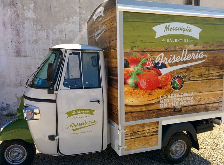 piaggio food delivery vans